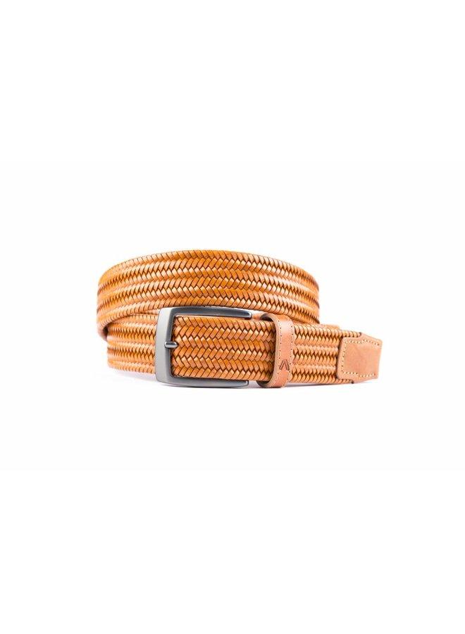 Bronze elastische riem van hoogwaardig leer
