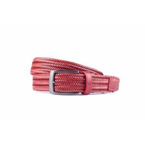 Rode elastische riem van hoogwaardig leer