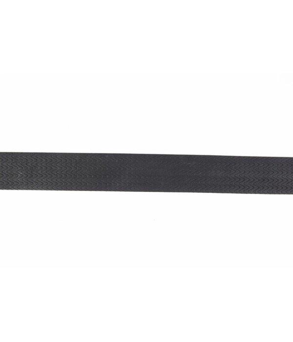 Alberto riemen Stoere zwarte riem met mooi dessin