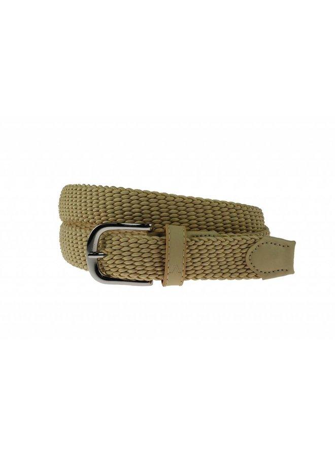 Fraaie beige- groen kleurige webbing elastische riem
