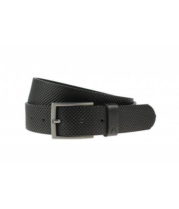 Alberto riemen Stoere zwarte jeansriem