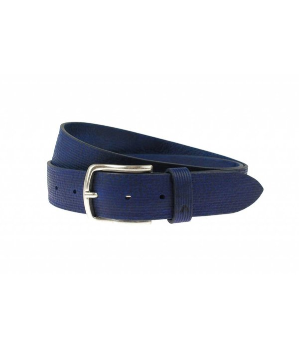 Alberto riemen Stoere blauwe casual riem