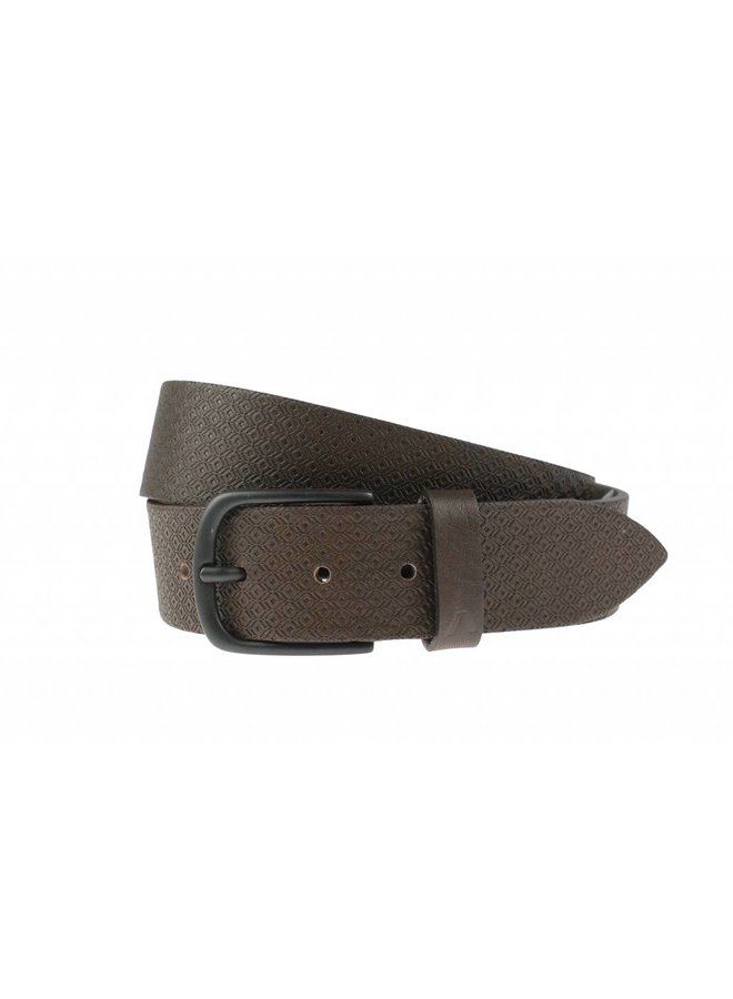 Stoere bruine jeansriem
