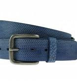 Alberto riemen Luxe riem met vakjes in blauwe kleur