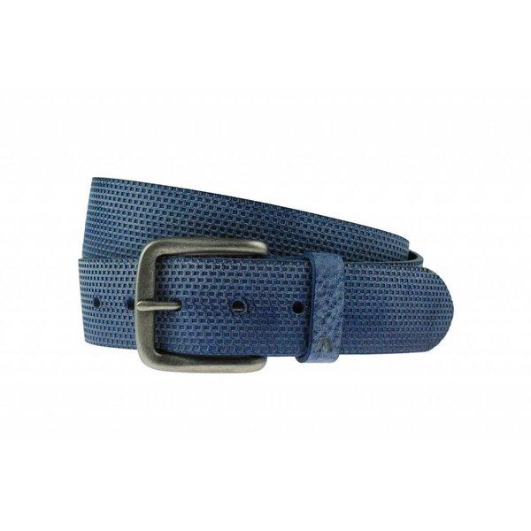 Luxe blauwe riem met vakjes
