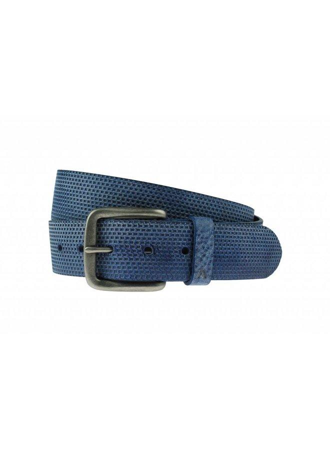 Luxe blauwe structuur riem