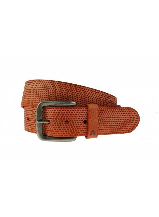 Luxe oranje kleurige structuur riem