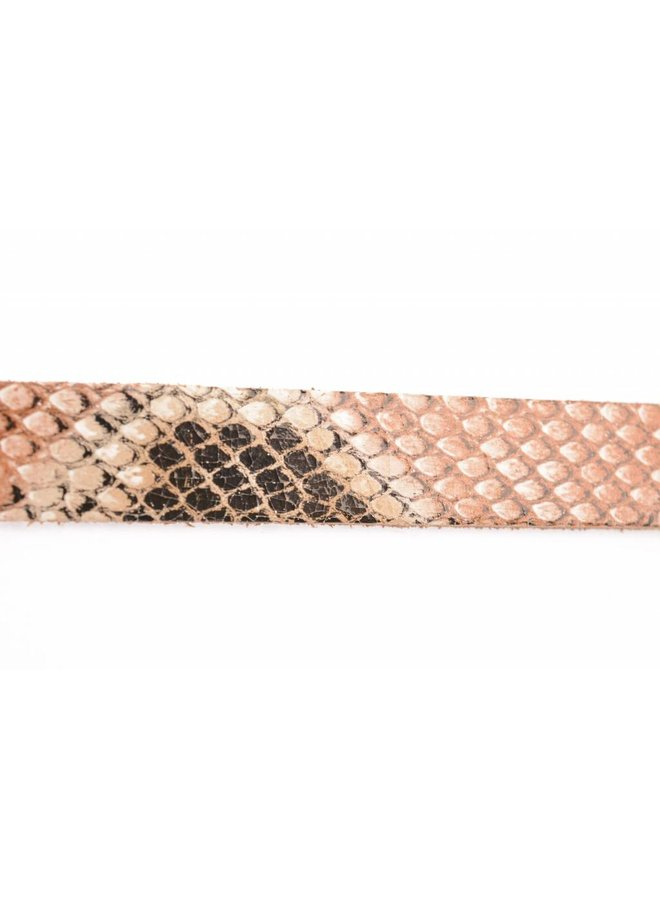 Stoere elegante smalle riem met snake-print