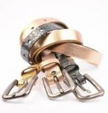 Take-It Stoere elegante smalle glimmend zilveren riem