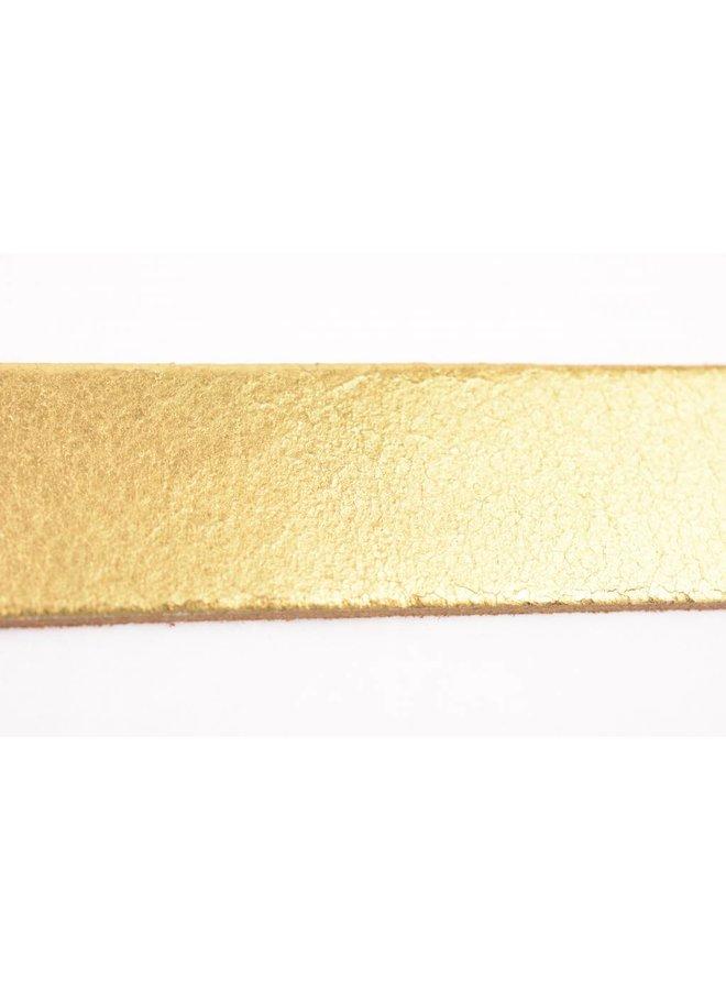 Stoere elegante glimmend gouden damesriem