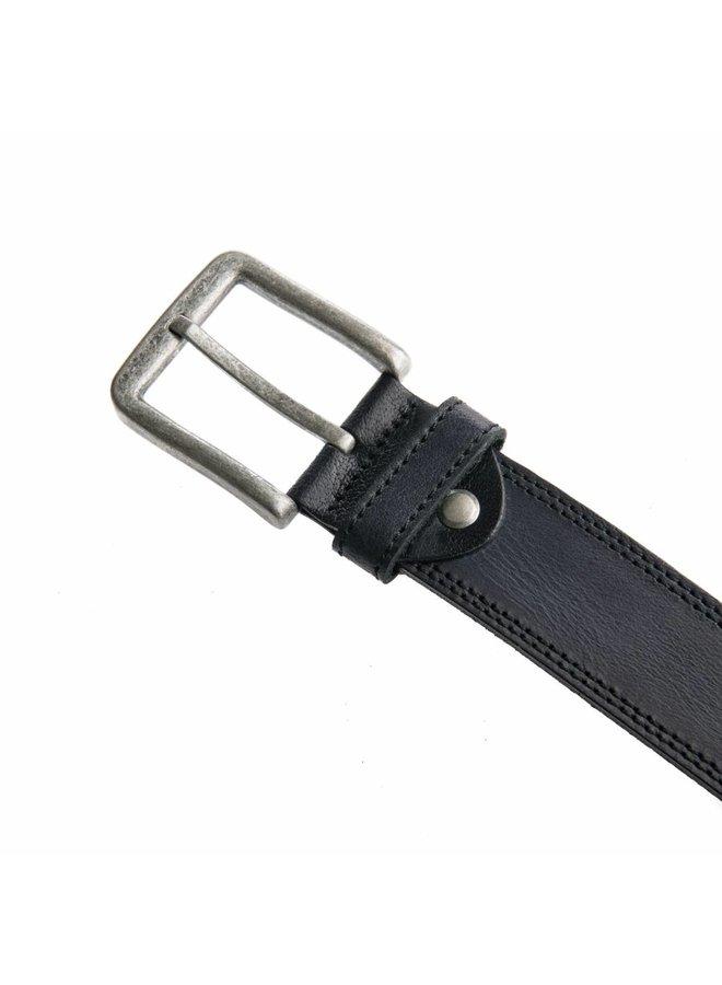 Stoere zwarte jeansriem