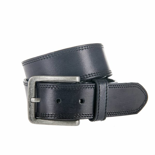 Stoere zwarte jeansriem.