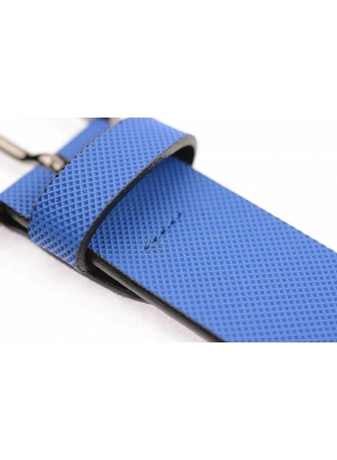 Exclusieve Blauw gecoate riem