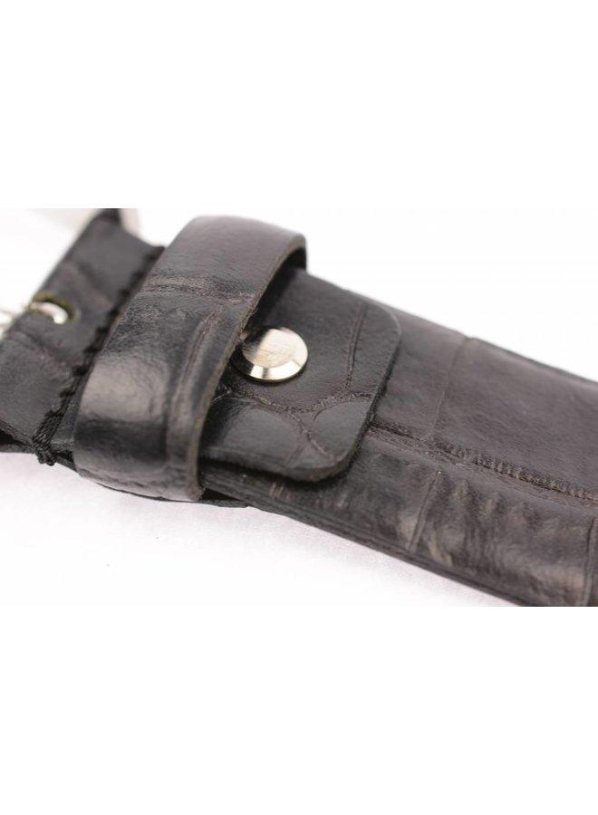 Mooie zwarte Croco pantalonriem