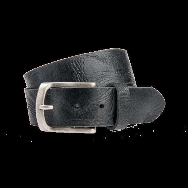 Stoere, zwarte jeansriem - 40 mm breed