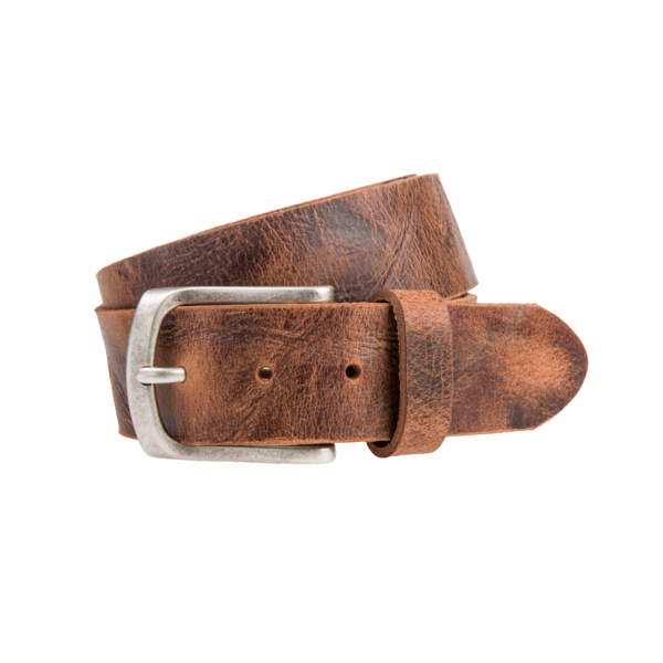 Stoere, cognac jeansriem - 40 mm breed