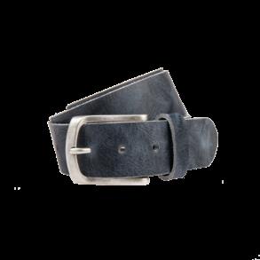 Stoere, navy jeansriem - 40 mm breed