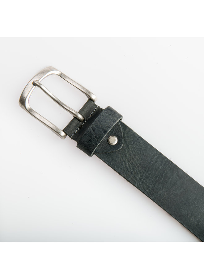 Antraciet kleurige Jeansriem - 40 mm breed