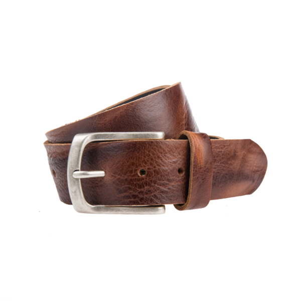 Bruine Vintage jeansriem - 40 mm breed