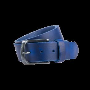 Blauwe Pull-up jeansriem - 40 mm breed