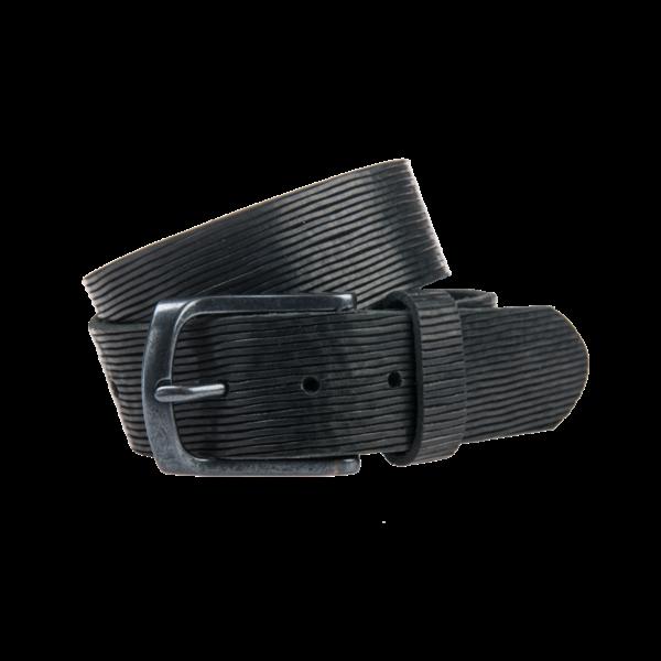 Mooie zwarte jeansriem - 40 mm breed