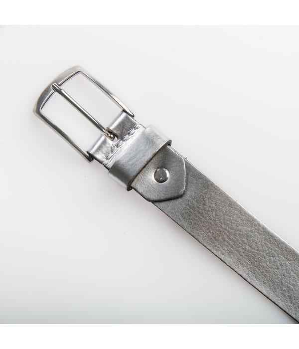Eagle Belts Zilverkleurige damesriem - 3,5 cm breed