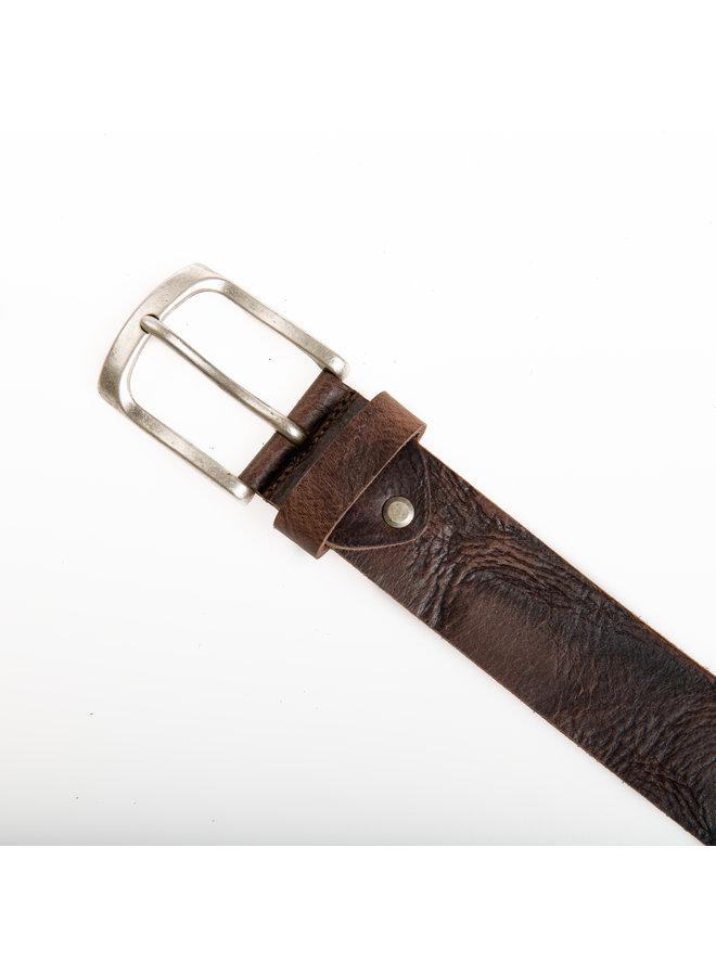 Stoere, bruine jeansriem - 40 mm breed