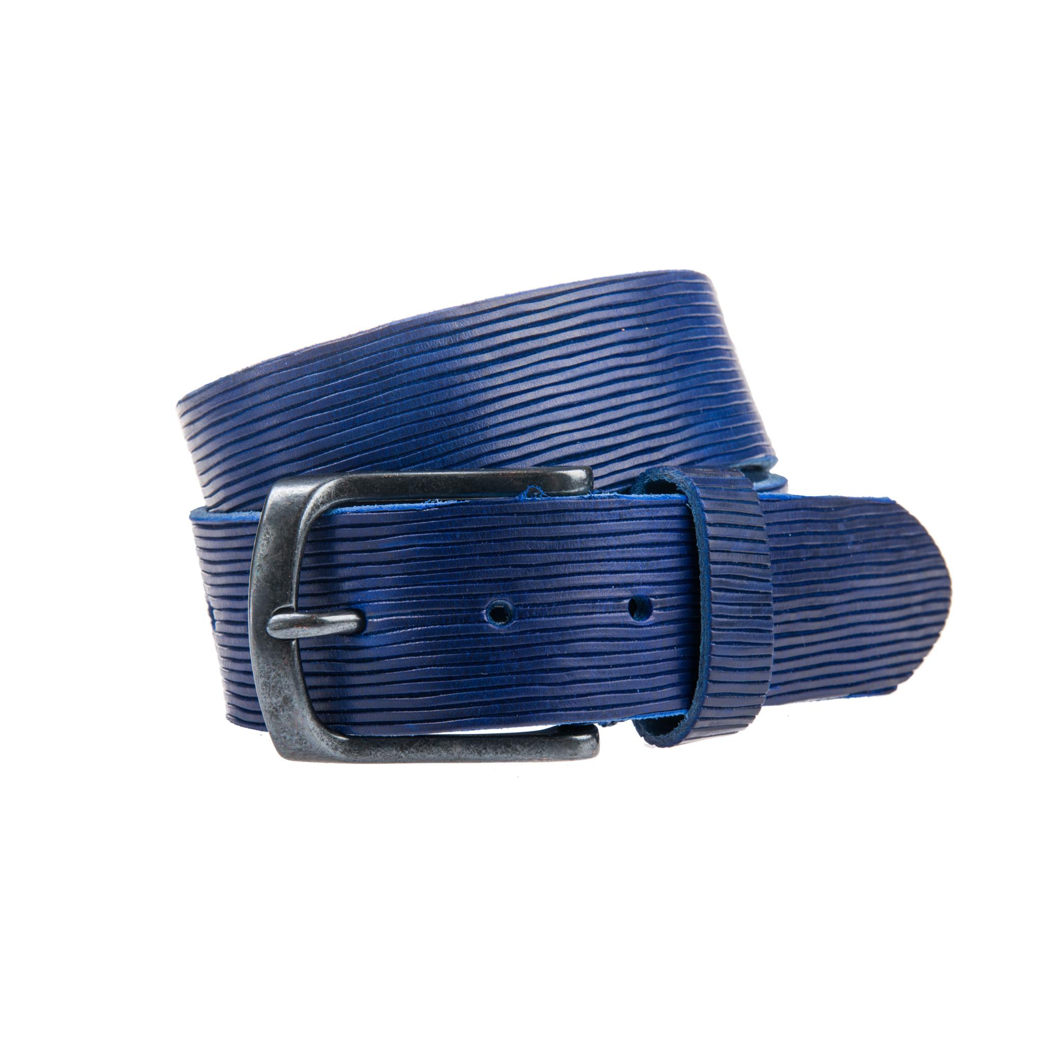 Mooie blauwe jeansriem - 40 mm breed
