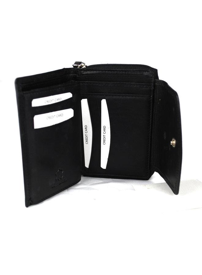 Damenbrieftasche Massi Miliano Leder 13X2.5X10cm (RS-212-6)