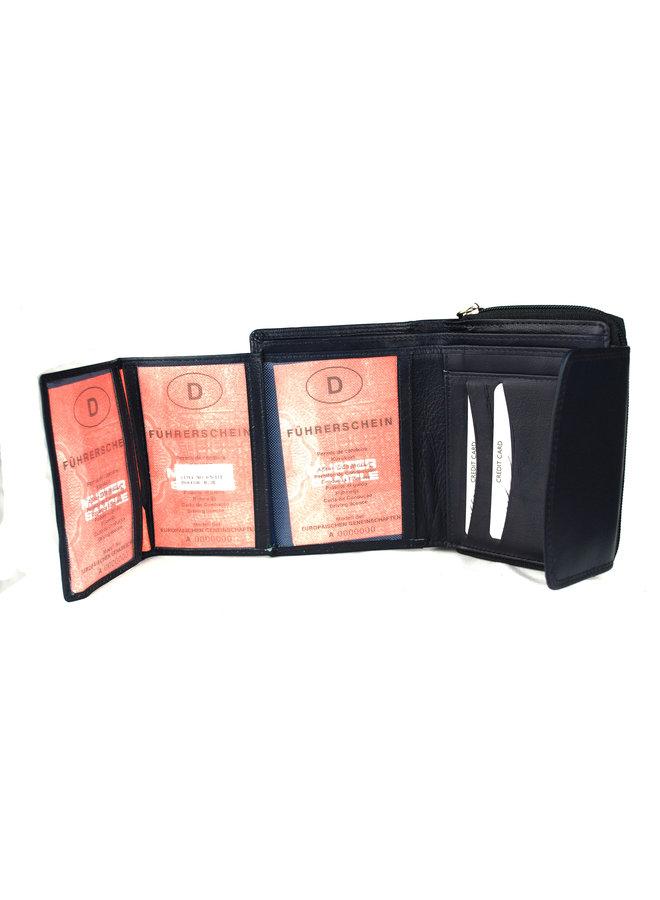 Damenbrieftasche Massi Miliano Leder 13X2.5X10cm (RS-212-8)