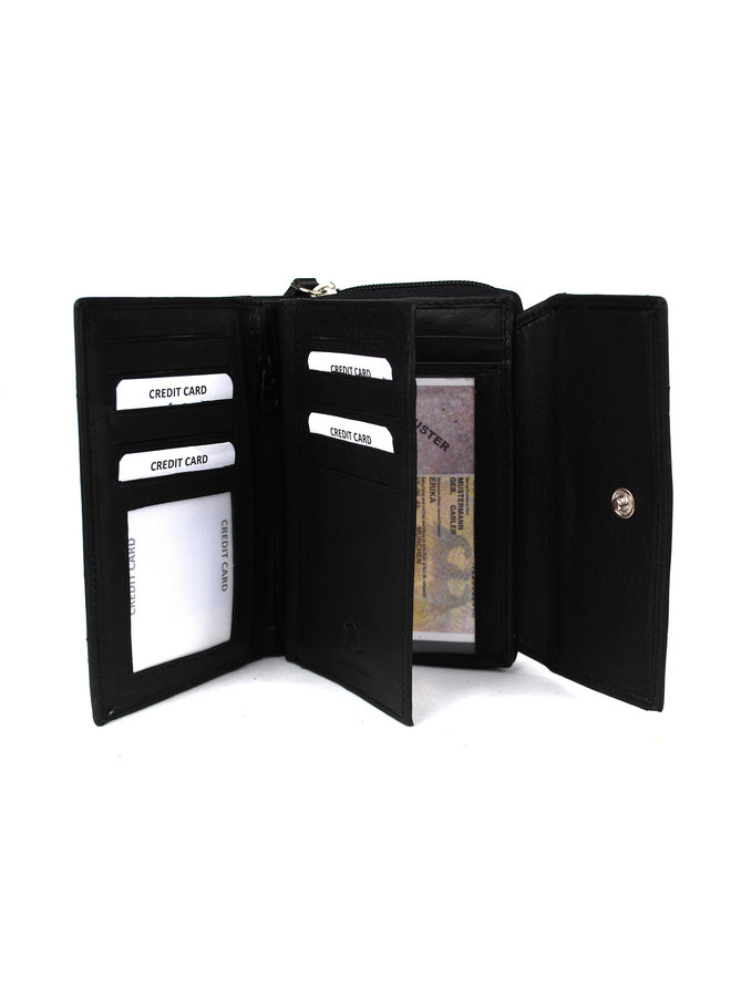 Damenbrieftasche Massi Miliano 14X3X10cm (14015-6)