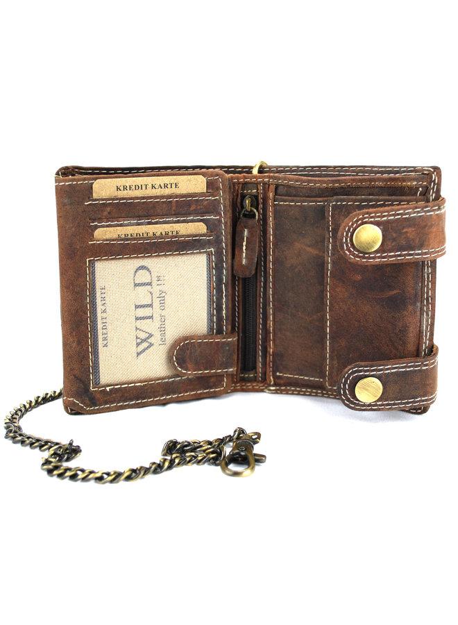 Brieftasche Männer Wild leder d.brown 9.5x2x12cm (RS401NC-15)