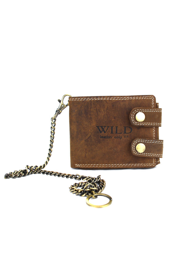 Brieftasche Herren Wild leder d.brown11.5x2x9 cm (RS400W-15)