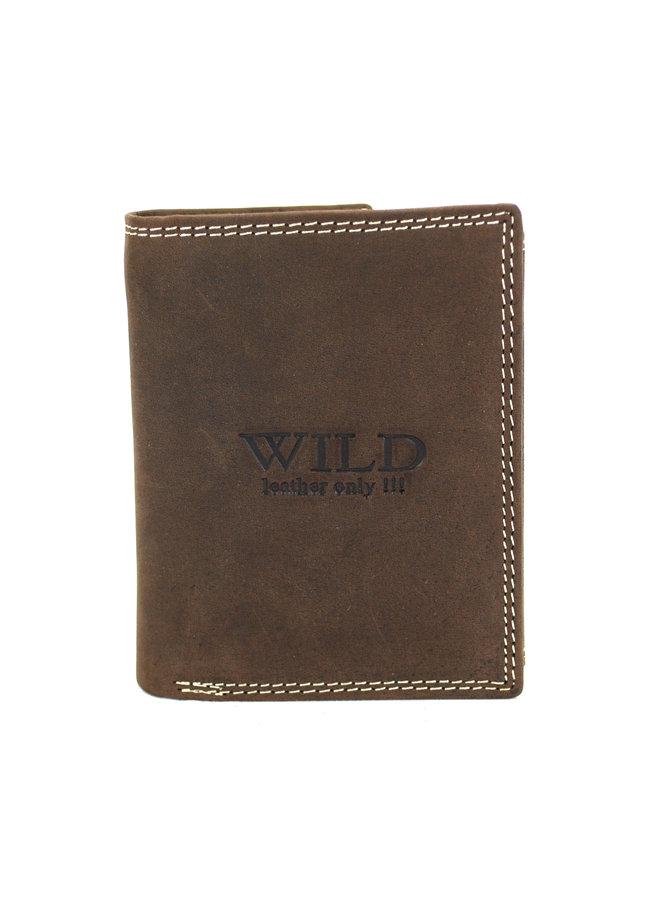 Brieftasche Herren Wild leder d.brown 9x2x12 cm (AD205-15)