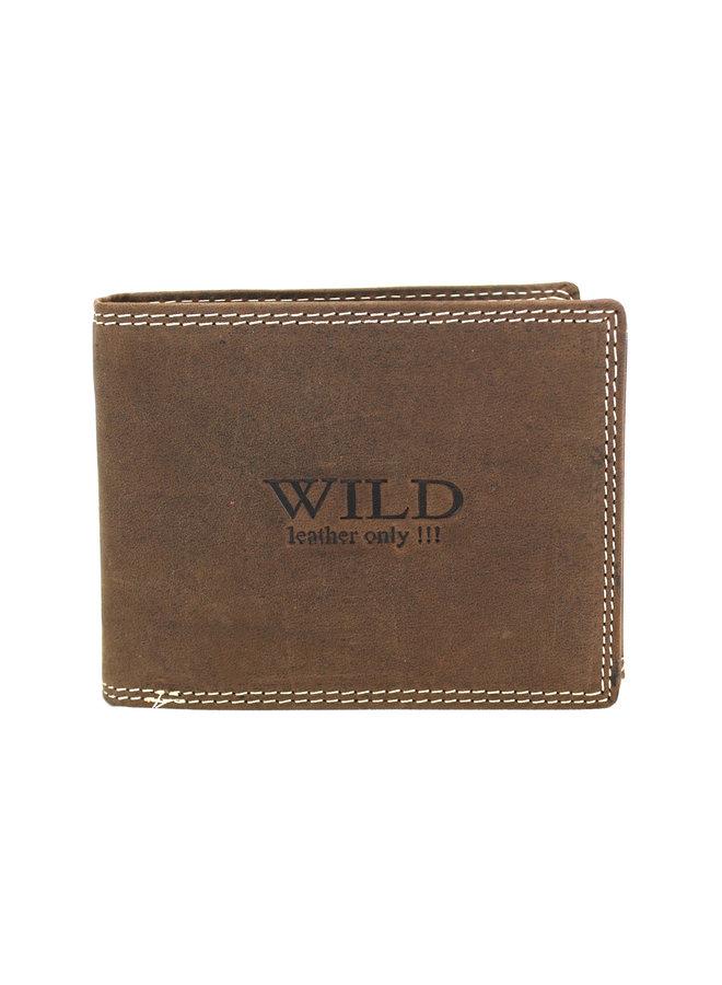 Brieftasche Herren Wild leder d.brown 12x2x9.5 cm (AD204R-15)