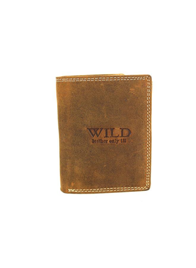 Brieftasche Herren Wild leder braun 9x2x12 cm (AD205-14)