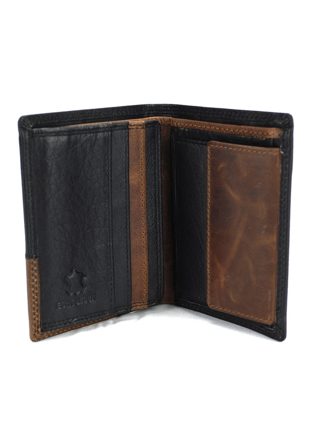 Brieftasche Herren Massi Milliano Leder 8,5 x 1 x 11 cm (2008B-6)