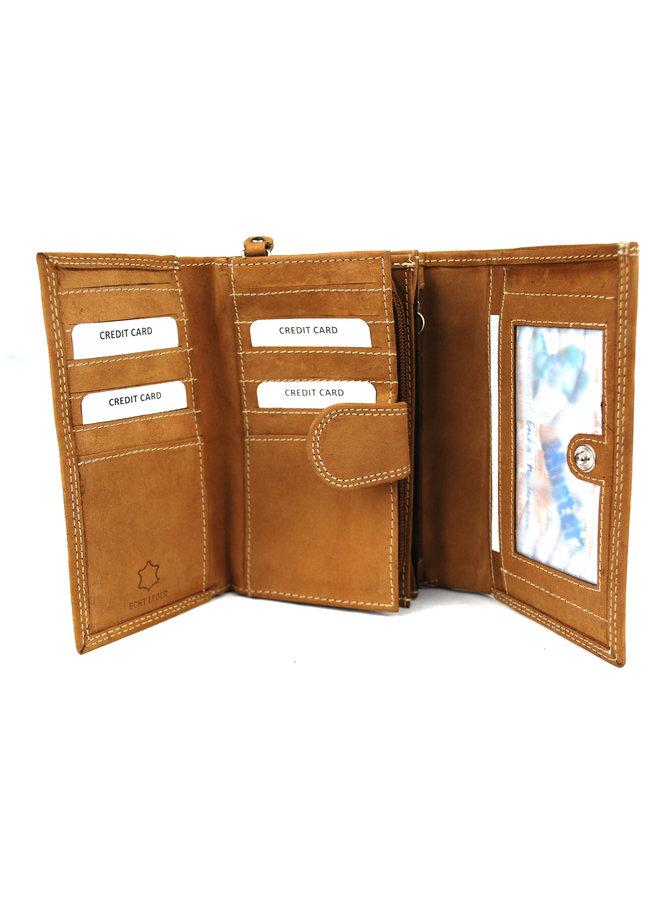 Brieftasche Damen Wild leder nur III 15X3X10cm (14018-40)