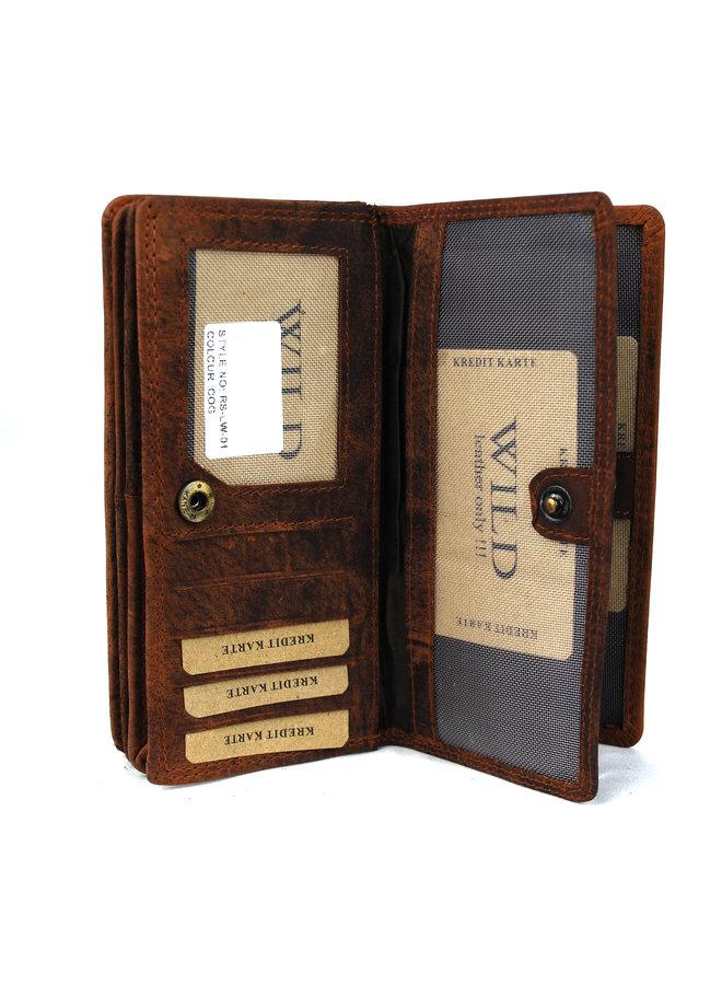 Brieftasche Damen Wild leder (FLRS-LW-01-16)