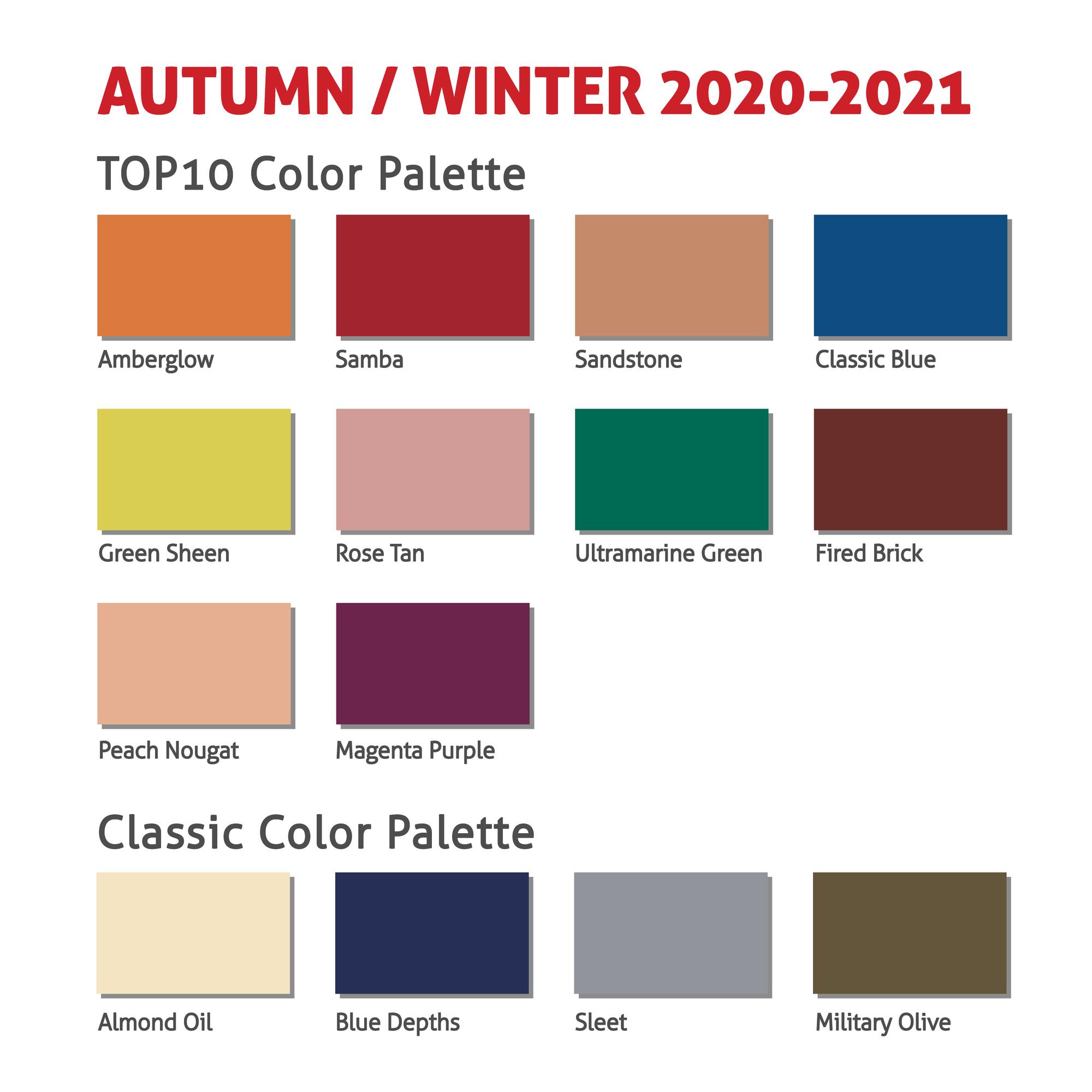 Herfst- en winterkleuren 2020-2021