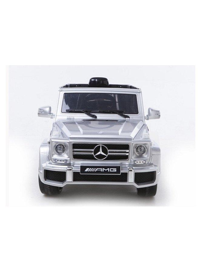 Mercedes G63 12v, muziekmodule, lederen stoel, rubberen EVA-banden (HL168)