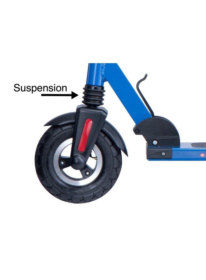 ROLLZONE ® ES02 elektrische step met zitje, 24 Volt Lithium, 250 watt (blauw)