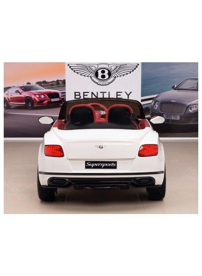 Bentley Supersports, 2-seater, lederen stoel, rubberen EVA-banden (JE1155) (wit)