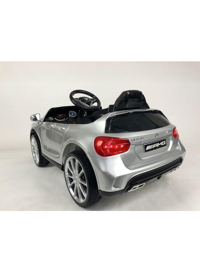 Mercedes GLA 45 12v, muziekmodule, lederen stoel, rubberen EVA-banden (HZB188) (hoogglans zilver)