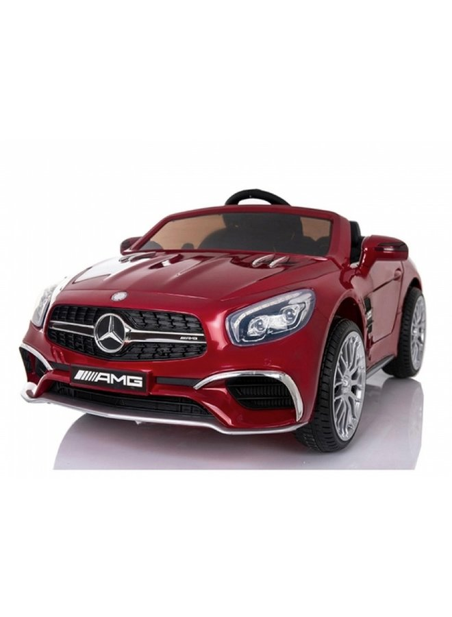 Mercedes-Benz SL65 AMG muziekmodule, lederen stoel, rubberen EVA-banden (XMX602) (hoogglans rood)