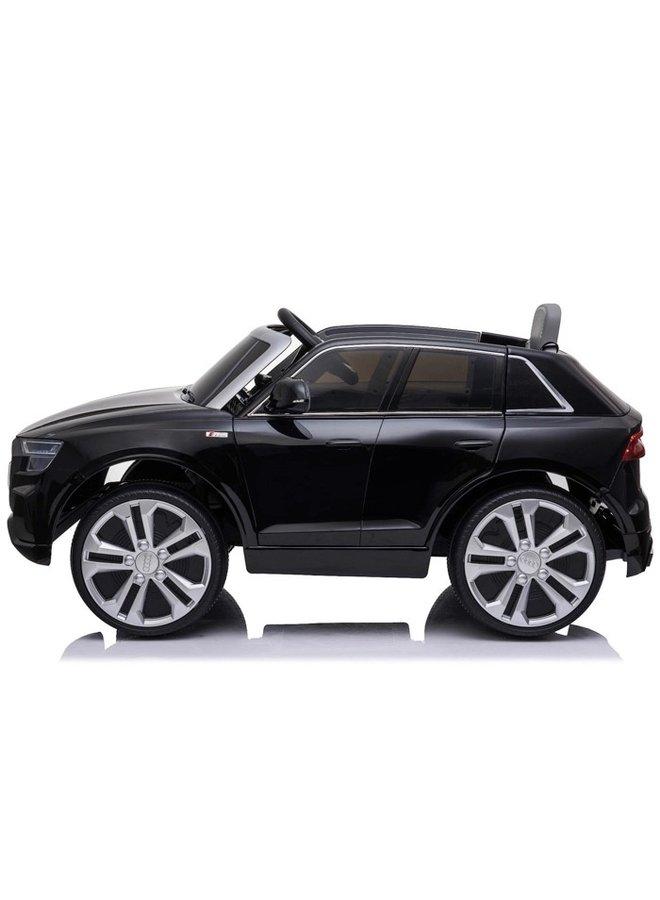 Audi Q8 12v, muziekmodule, lederen stoel, rubberen EVA-banden (JJ2066) (hoogglans zwart)