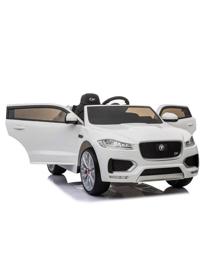 Jaguar F-Pace S 12v, muziekmodule, lederen stoel, rubberen EVA-banden (LS818) (wit)