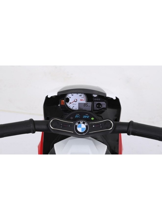 BMW S1000 RR 6v, lederen stoel, rubberen EVA-banden (JT5188) (rood)