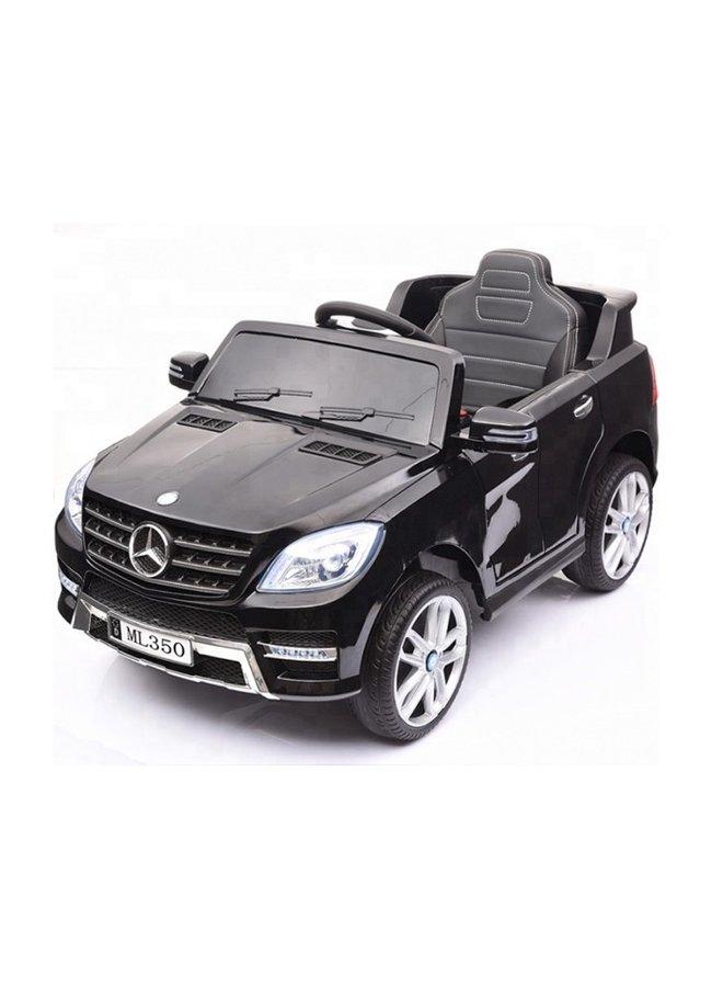 Mercedes ML350 12v, muziekmodule, lederen stoel, rubberen EVA-banden (ML350) (hoogglans zwart)