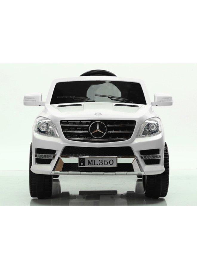Mercedes ML350 12v, muziekmodule, lederen stoel, rubberen EVA-banden (ML350) (wit)